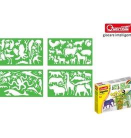 Quercetti Kid Source Quercetti Animal Stencils Set w/Markers