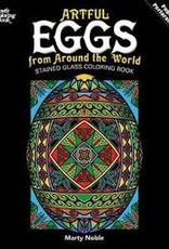 Dover Dover CB:Artful Eggs from Around the World Stained Glass Coloring Book