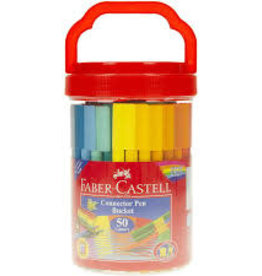 Faber-Castell Faber-Castell 50ct Connector Colored Pen Bucket
