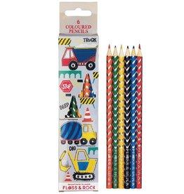 Floss & Rock Floss & Rock Construction Set of 6 Colored Pencils