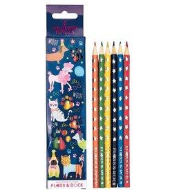 Floss & Rock Floss & Rock Pets Set of 6 Colored Pencils