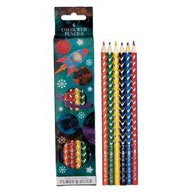 Floss & Rock Floss & Rock Rocket Set of 6 Colored Pencils