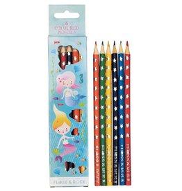 Floss & Rock Floss & Rock Mermaid Set of 6 Colored Pencils