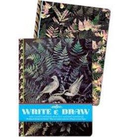 Eeboo Eeboo Doves in Ferns Write & Draw Notebook Set