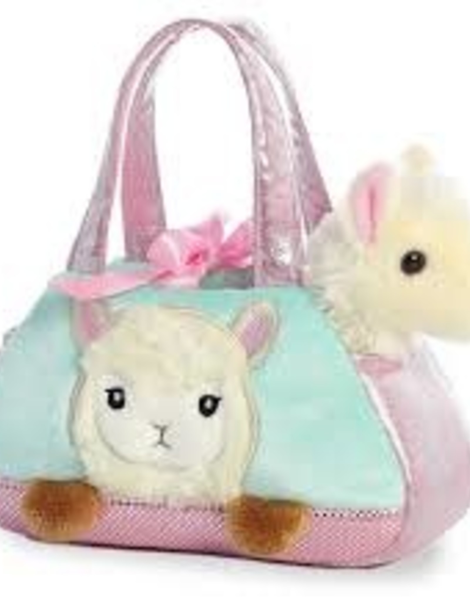 "Aurora Aurora 7"" PEEK-A-BOO LLAMA Fancy Pals Pet Carrier/Purse"