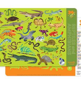 Crocodile Creek Crocodile Creek Placemat- Reptiles & Amphibians