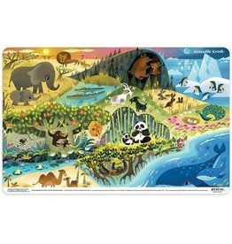 Crocodile Creek Crocodile Creek 2-Sided Placemat-Can You Find?  Where Animals Live