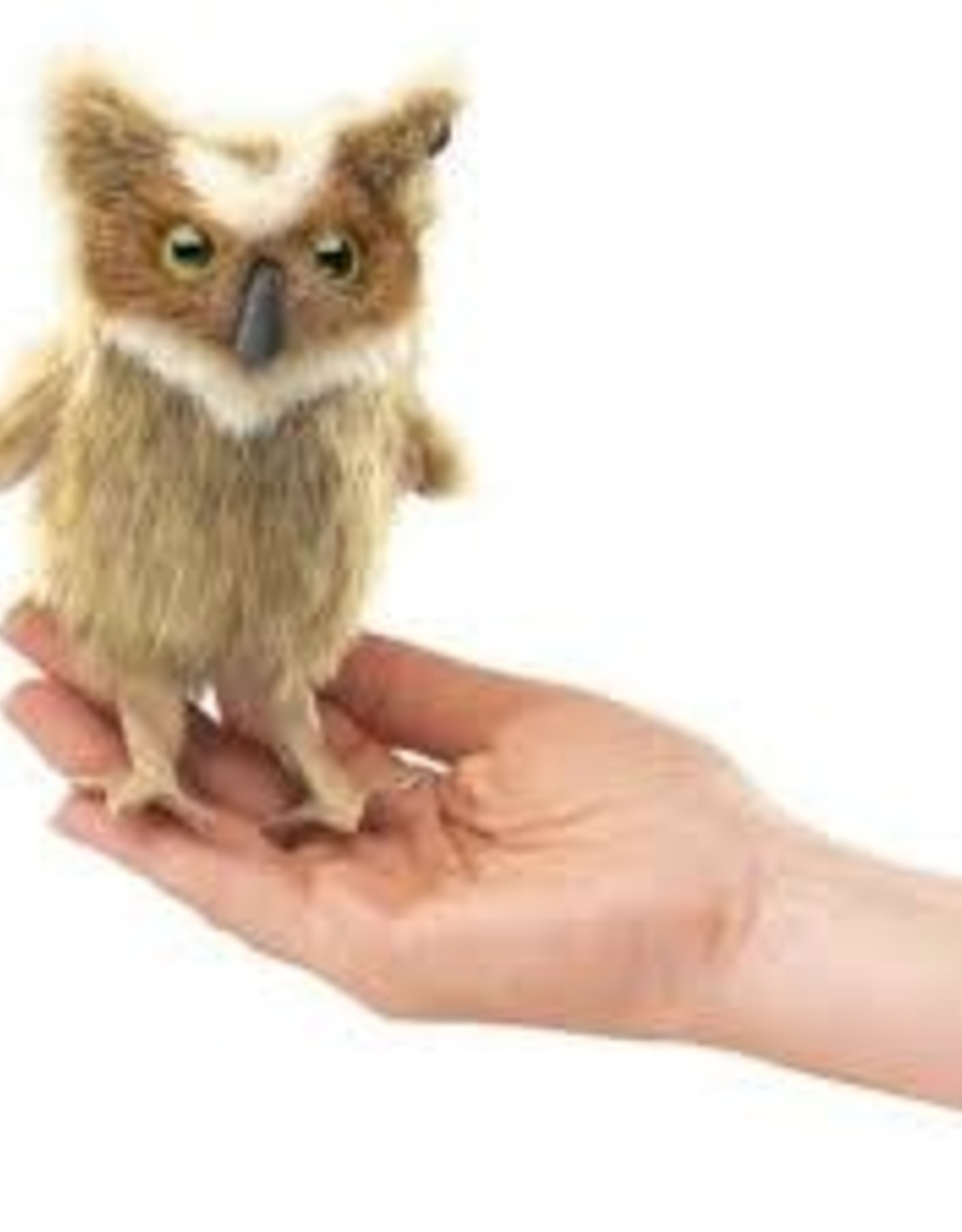 Folkmanis Folkmanis Mini Great Horned Owl Finger Puppet 2752