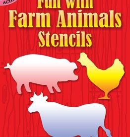 Dover Dover Mini Fun with Farm Animals Stencils