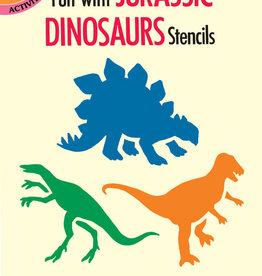 Dover Dover Mini Fun with Jurassic Dinosaurs Stencils