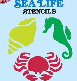 Dover Dover Mini Fun with Sea Life Stencils