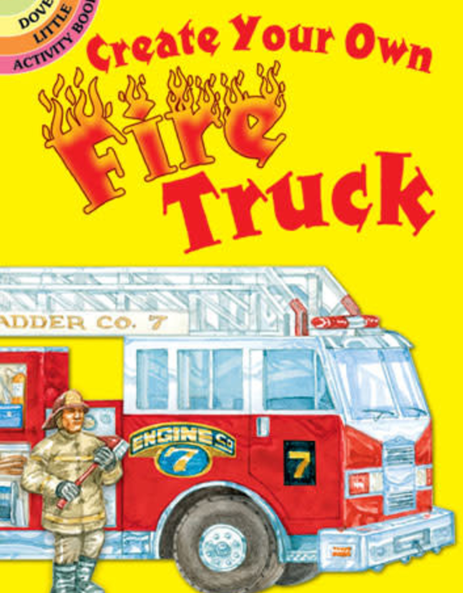 Dover Dover Mini Create Your Own Fire Truck Sticker Activity Book