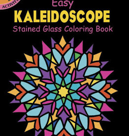 Dover Dover Mini Easy Kaleidoscope Stained Glass Coloring Book