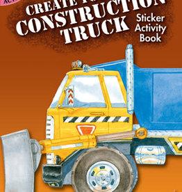 Dover Dover Mini Create Your Own Construction Truck Sticker Activity Book