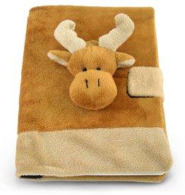Puzzled Inc. Cota Plush Notebook-Moose