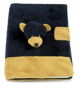 Puzzled Inc. Cota Plush Notebook-Black Bear