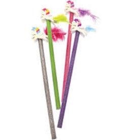 Streamline Imagined Streamline Sparkle Unicorn Pencil/Eraser-Fuchsia Pencil/Tail