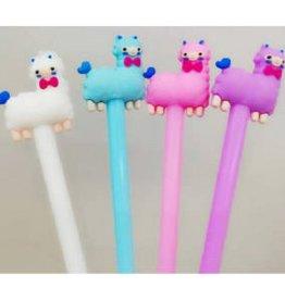 BC USA Erasers BC Erasers Llama Gel Pen-PURPLE
