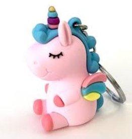 BC USA Erasers BC Erasers Pink Unicorn Charm Keychain