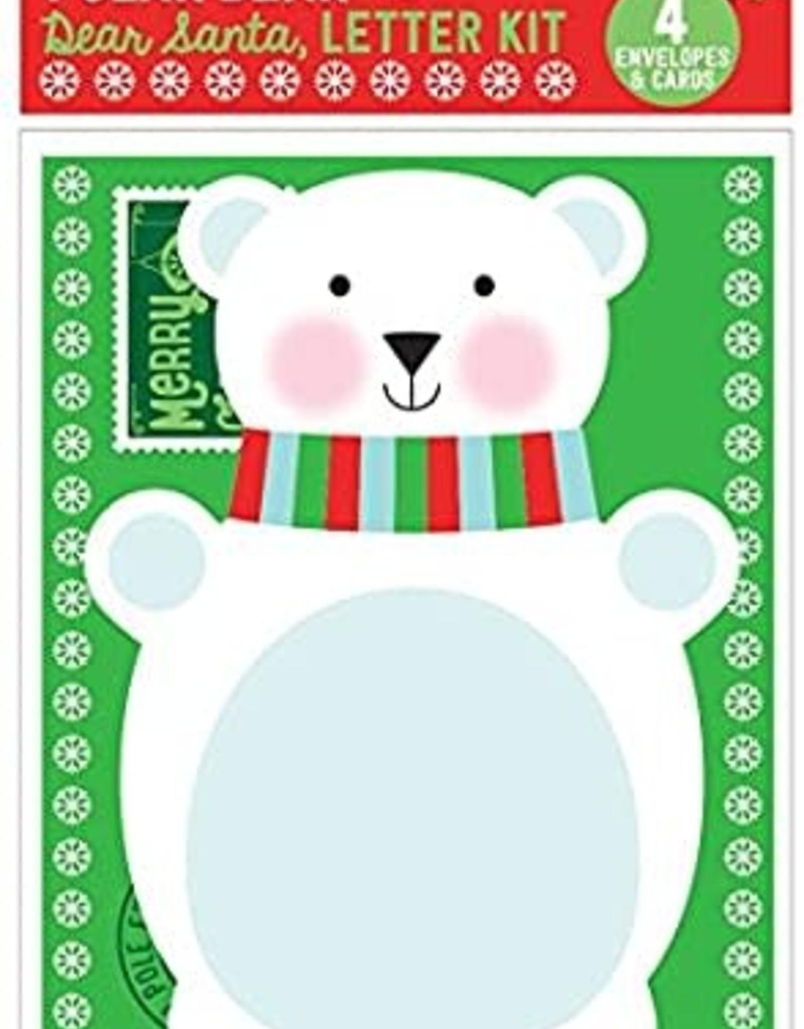 Ooly Ooly Dear Santa Letter Kit-Polar Bear