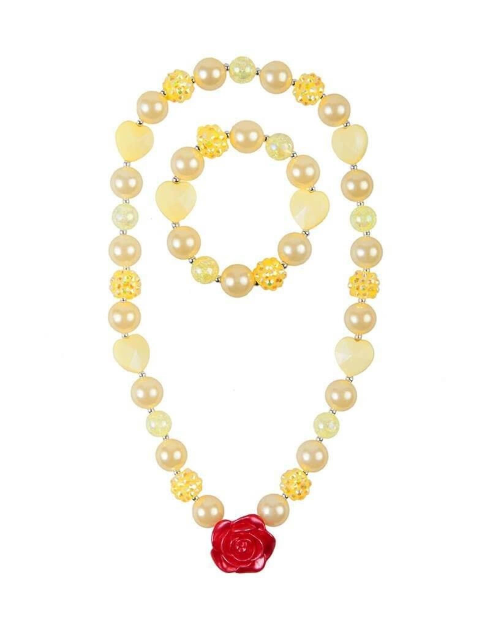 Great Pretenders Creative Education Belle Beautiful Rose Necklace Set (2 pcs)