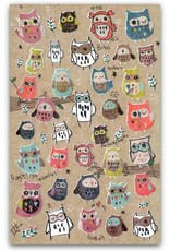 BC USA Erasers BC Erasers Funny Bubo Owl Stickers 40474