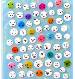BC USA Erasers BC Erasers Funny Faces Puffy Stickers 30284