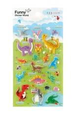 BC USA Erasers BC Erasers Funny Puffy Dinosaurs Stickers 31427