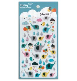 BC USA Erasers BC Erasers Funny Pawoo Elephant Gel Stickers 40481