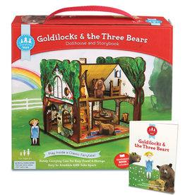 Storytime Goldilocks & the Three Bears Set-Book, Figures, Playhouse-1106