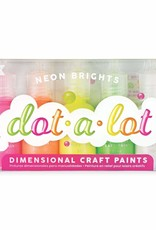 Ooly Ooly Dot-A-Lot Neon Brights Craft Paint