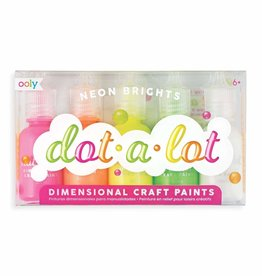 Ooly Ooly Dot-A-Lot Neon Brights Dimensional Craft Paint