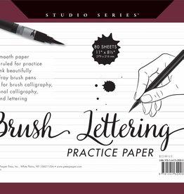 Peter Pauper Press, Inc. Peter Pauper Studio Series Brush Lettering Practice Paper