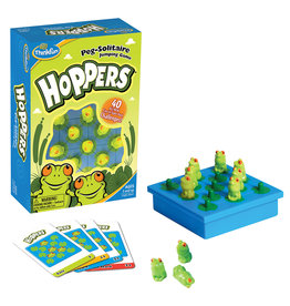 ThinkFun Hoppers Peg Solitaire Game