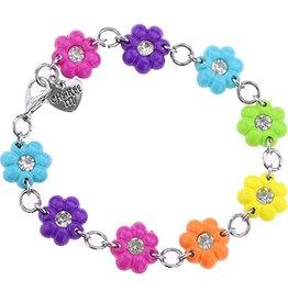 Charm It Charm It! Rainbow Flower Charm Bracelet