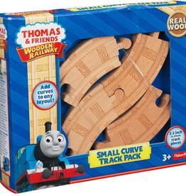 """FISHER-PRICE FRIENDS PLAY Fisher Price Thomas & Friends 3""""  Wooden Curve Track Pack"""