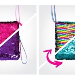 Play Visions Play Visions Shimmer Flip Shoulder Purse-Pink/Purple