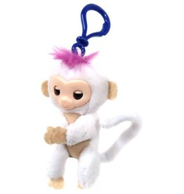 Schylling Schylling Fingerlings Plush Monkey Mini Clip-White