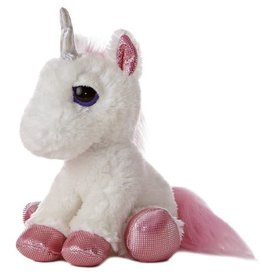 "Aurora Aurora Dreamy Eyes Heavenly-White Unicorn 10"" Plush"