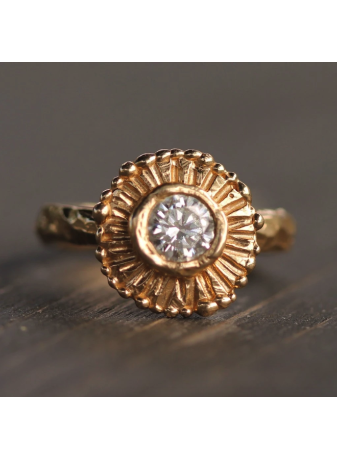 Summer Sun Diamond Ring (Size: 6)