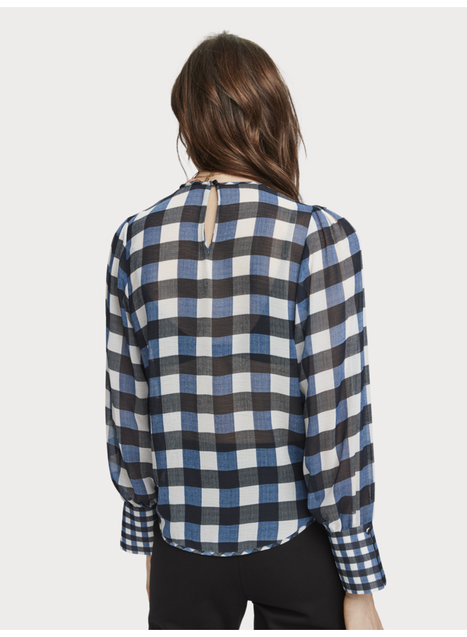 Sheer Checked Top