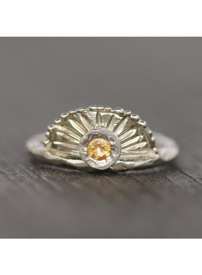 Chasing Sunsets Ring SS Citrine size 6