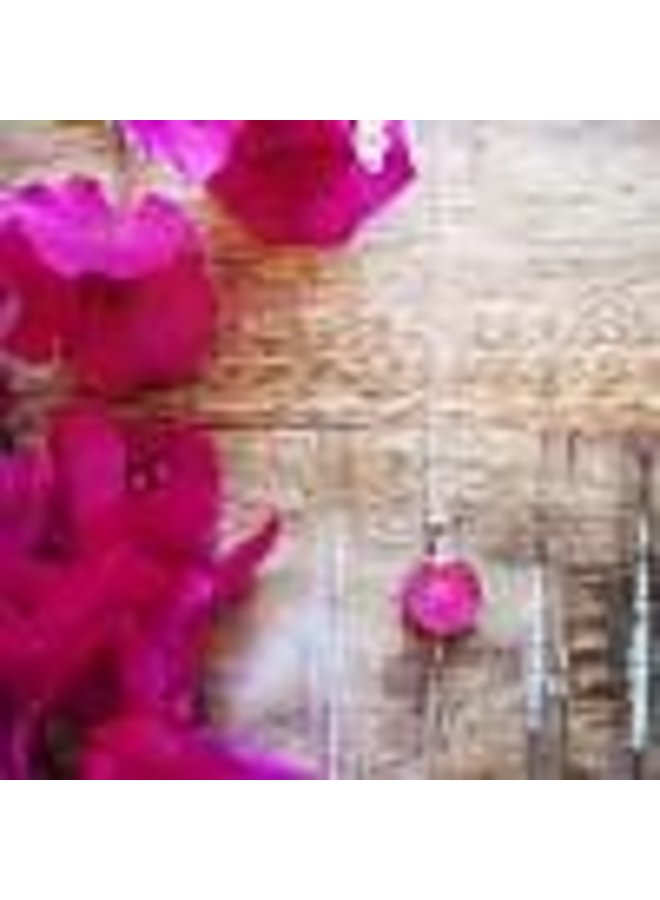 Bougainvillea Necklace 16""