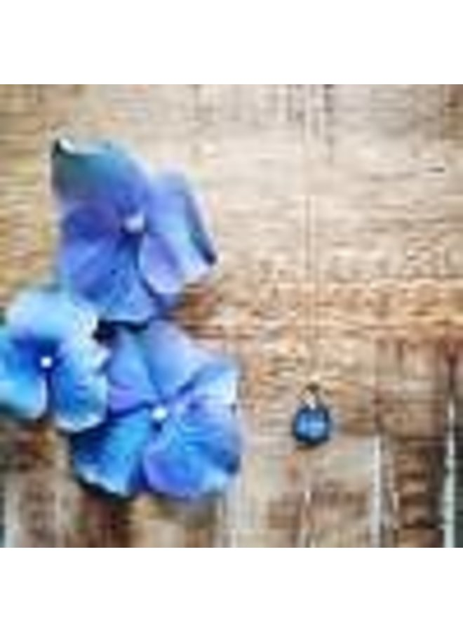 "Blue Hydrangea Necklace 16"""