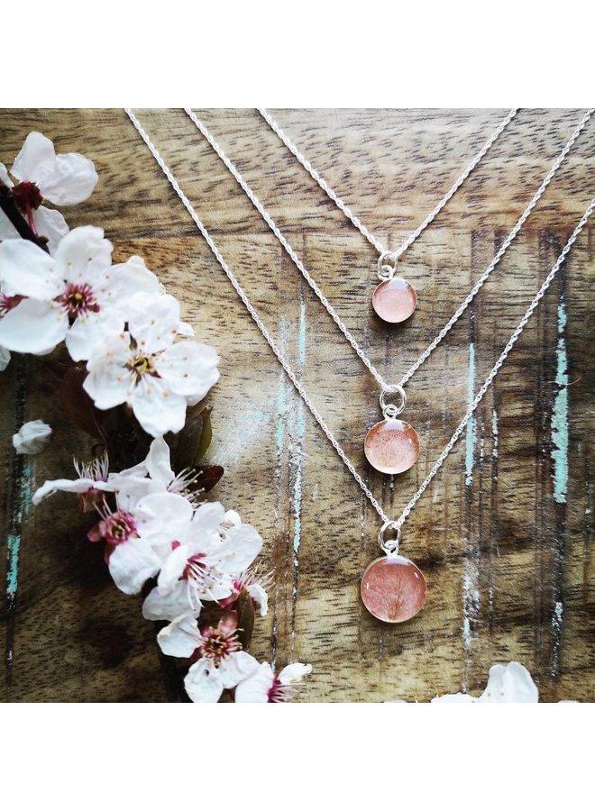 "Victoria Cherry  Blossem Necklace16"""
