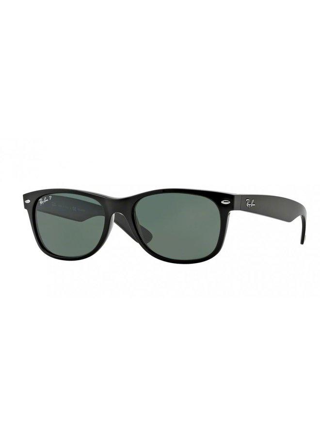 New Wayfarer Black Rubber /Crystal Green
