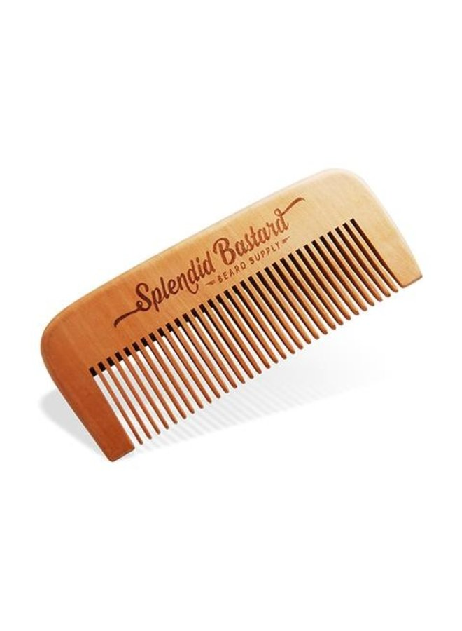 Beard Comb Peachwood