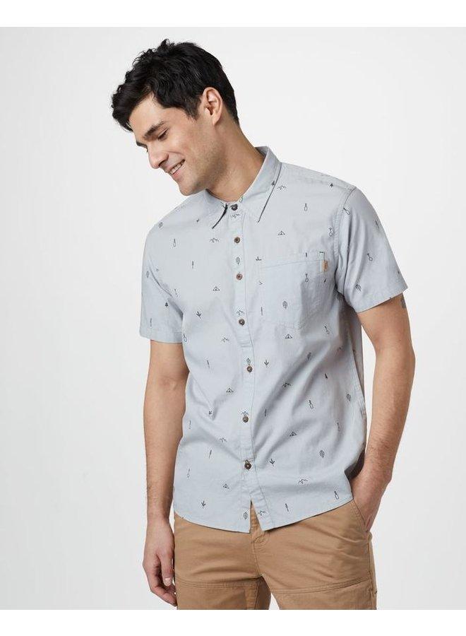 Short Sleeve Button-up Men