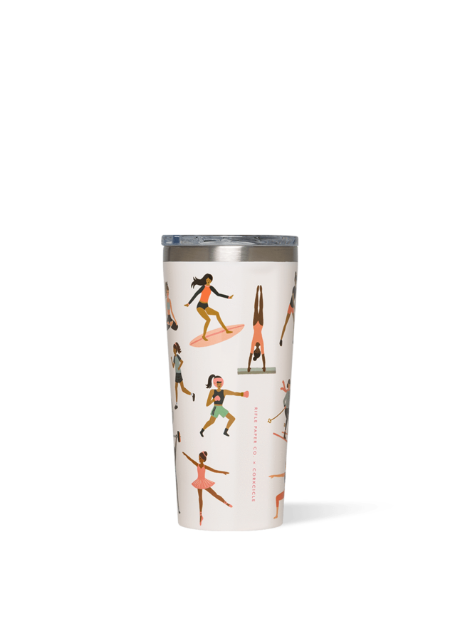 Rifle Paper Tumbler - 16oz  Gloss Cream