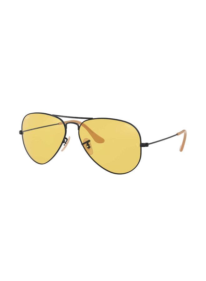 Aviator Matte Black W/ Yellow Lens